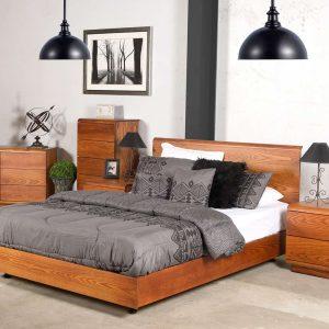 Karamea Slat Bed Frame in NZ Pine